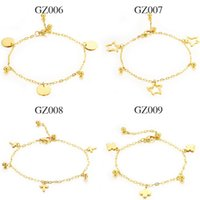 Wholesale Fashion accessories K Gold Plated anklets women jewelry