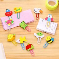 Wholesale Japan and South Korea Stationery Cartoon Wooden paper clip Lovely animal clip bookmark pin pin