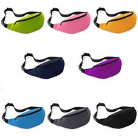 belly knit - 50pcs Unisex Portable Multifunction Sport Runner Fanny Pack Belly Waist Bum Bag Fitness Running Jogging Belt Solid Pouch Waist Bag