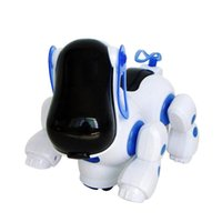 Wholesale 2016 Lovely Robot Puppy with Music Light Robotic Electronic Walking Dog Safe Kids babyToy for boys and girls