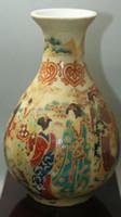 Beaux vieille Chine porcelaine peinte Old Glaze porcelaine Vases de vases en porcelaine de collection