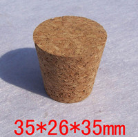 Wholesale 35mm mm mm size soft cork stopper for glass vials glass wishing bottles stopper bung wooden plug etc