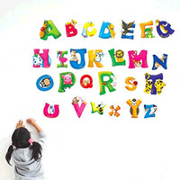 alphabet wall letters - Home Decor A Z Learn Wall Sticker Plastic removable A Z letter stickers A Z Alphabet Animals wall sticker