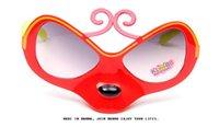Wholesale Children S Plastic Sunglasses - New children 's sunglasses Fashion frame sunglasses mask Hot style expressions using monkey glasses plastic mixs color DHL gift 500pcs