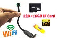 Wholesale 16GB TF Card L3B H HD P Wireless hidden Module camera with IR lamp
