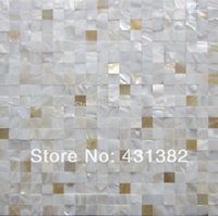 Wholesale yellow lip mixed shell mosaic tiles backsplash kitchen bathroom mirror tile backspalsh wall mother of pearl tile