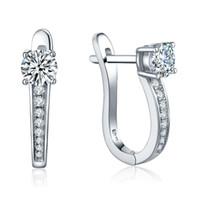 big beautiful earrings - 2016 New Design Sterling Silver Big Hoop Earrings with Diamond CZ For Beautiful Wedding Engagement Jewelry DE29320A