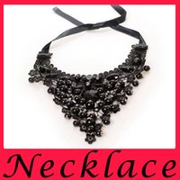 big plastic chain - Europe And The United States Fashion Lace Necklaces Big Plastic Pearl Collar Necklace For Fashion Women