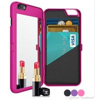 apple cosmetic case - iFrogz Mirror Cases Multi Function Card Slot Holder PC Wallet Pouch Case Girls Cosmetic Mirror Cover for iphone S plus