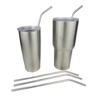 Wholesale NEW yeti Stainless Steel Bend Drinking Straw With Cleaning Brush for Double Wall Vacuum Insulated Yeti oz oz Rambler Tumbler Cups