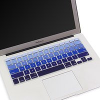 Wholesale Silicone gradient color Keyboard Covers for Apple mac book Air Pro Retina Protective for mac laptop Skin Film