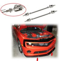 adjustable strut - TOP RACING Universal Adjustable cm Racing Front Bumper Lip Splitter Rod Strut Tie Bar Support Kit