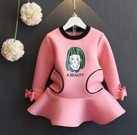 Wholesale Line Dolls For Free - 2016 new Korean girls dress and a doll dress for free shipping