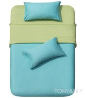 apple alternative - New cotton Fabric turquoise apple green solid pattern Alternative comforter covers Queen bed in a bag sets pc with sheets