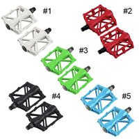 Wholesale Pair Hot Bicycle Pedals Mountain Bike MTB Road Cycling Alloy Vintage Bearing BMX Ultra light Platform Pedal Color