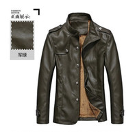 Wholesale Spring and autumn men s casual leather jacket collar pu young men Korean Slim motorcycle jacket