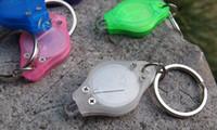 Wholesale 20000mcd LED Flashlight White Torch Key Chains Ring Keyrings