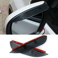 accessories hyundai elantra - Car Styling Carbon rearview mirror rain eyebrow Rainproof Flexible Blade Protector Accessories For Hyundai ELANTRA