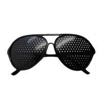 Wholesale Pinhole Eyewear Unisex Glasses Anti fatigue Stenopeic Pinhole Eyewear Eyesight Improve Vision Care Sunglass Fashion Style Black