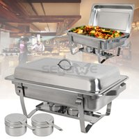 Wholesale 8 Qt Stainless Steel Chafing Dishes Pack Full Size with Durable Frames
