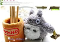 Wholesale Super CUTE MY Neighbor TOTORO Plush Stuffed TOY DOLL Phone Stand Holder Pouch Case RACK DOLL School Desk Pen Pencil Holder BOX