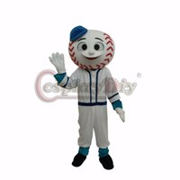 Wholesale Mr Met mascot Mascot Costume Adult Unisex Halloween Baseball Cartoon Mascot Costumes With Blue Hat Custom Made D0404