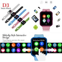 android test gps - New Arrival D3 Bluetooth Smart Watch Support Bluetooth SIM Card Smart Watches For Android Phones With Heart Rate Test VS U8 DZ09 GT08 Q18