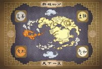 avatar post - GQ29 American cartoon art Avatar the last Airbender Map art silk Posters x36 inch