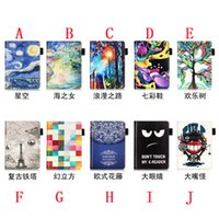 amazon reader - Flower Print Leather Flip Case Pouch For Amazon New Kindle Oasis inch E Book E reader Painting Retro Tower Fashion Bag skin Cover