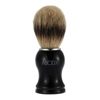 beard facial hair - Abody Men s Blaireau Shaving Brush Hair Brush for Beard Cleaning Shave Facial Razor Brush with Plastic Handle Face Cleaning Tool W2666