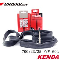 Cheap Wholesale-Free shipping High quality Brisky 700c 700x23 25 Road bike tube 60 mm Presta valve bicycle tire inner tube 25 622