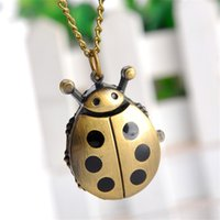 beetle watch - Beetle Necklace Pocket Pendant Watch Child Girl Watch Fashion Vine Retro Chain Key Ring Pocket Watch