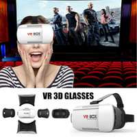 Wholesale 2016 Newest VR BOX GLASSES Virtual Reality D Glasses Google Cardboard D VR GLASSES D Movie for quot quot Smart Phone