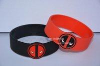 animation bracelet - 50pcs Deadpool Debossed Silicone Wristband Bracelet For Animation Fans