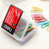 Wholesale Creative colourful DIY Multifunction paper clips mm box Lovely stationary Good quality