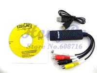 Wholesale shipping New USB Easycap dc60 tv dvd vhs video adapter capture card Audio AV Capture