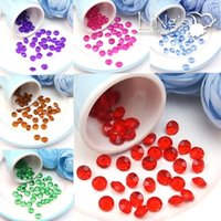 acrylic housing - 500pcs set mm Acrylic Diamond Confetti Wedding Party Table Scatters Crystal wedding Decoration confetti colors