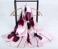 Wholesale 180 cm Elegant Silk Satin Scarves Real Silk Scarf Pure silk Hijab Female