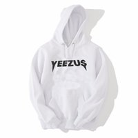 Wholesale man European And American Sportswear New autumn winter cotton men long sleeve printed letters yeezus hoodie hooded clothes