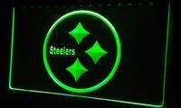 animal pittsburgh steelers - LS182 g Pittsburgh Steelers Logo NR Neon Light Sign jpg