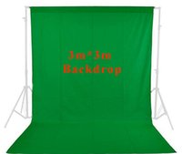 Wholesale Inno photo studio vedio photography ft x ft m x m Green Photo Studio Solid Muslin Backdrop Background green screen PSB3A