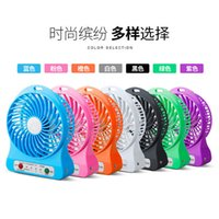 Wholesale HOT Home Mini Electrical Portable Fan Personal Rechargeable Power Bank Fan with LED Light USB Adjustable Speeds Colorful Mini Fans Outdoor