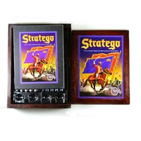 Wholesale Stratego Board Game Vintage Book Collection Wood Wooden Box Complete Milton The Classic Game of Battlefield Strategy