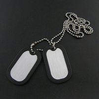 aluminum dog tags with chain - 1000pcs Silver Aluminum Military Dog Tag With Rubber Silencer and cm Bead Chain Army Men Pendants