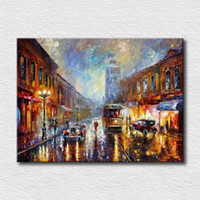 art reproduction artist - Modern oil painting of nice night view hot sales reproduction artist canvas wall art for home decoration