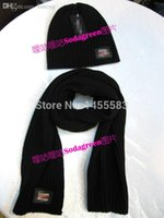 Wholesale HOT SALE NWT warm winter scarves Post head hats Top Quality G logo Cotton hat scarf one set