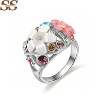 Wholesale Platinum Gold Morning Glory Ring Gold Men s Ring Sterling Silver For Women Jewelry Bijoux bague Ring Female Wedding Rings