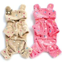 Cheap Direct Manufacturer New Hot Pet Dog Soft Warm Pajamas Coat Polka Dot Dog Hoodie Clothes Jacket S-XXL