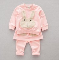 baby bunny suits - Autumn Winter Clothing Infant Baby Set Girls Cute Rabbit Bunny Tops Pantskirt Outfits Kids Clothes Outwear Suit K8021