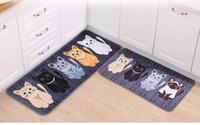Новый Kawaii Добро пожаловать Коврики для животных Cute Cat Печать Ванная Кухня Ковры Дом Doormats для гостиной Anti-Slip Tapete Ковер